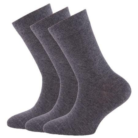 EWERS 29291_1 otroške visoke nogavice, trojno pakiranje, sive, 23–26