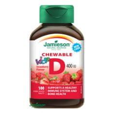 Jamieson Jamieson Vitamín D3 Kids Jahoda tbl.100