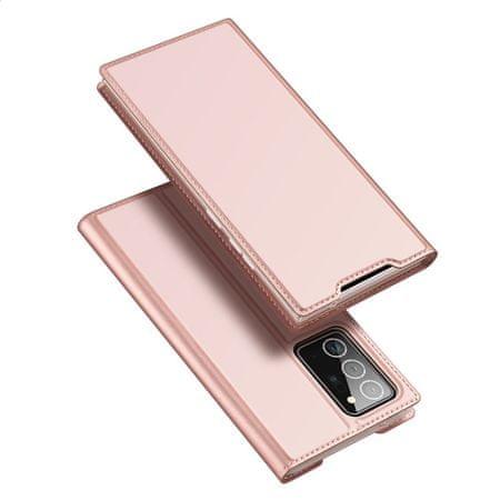 Dux Ducis Skin X bőr könyvtok Samsung Galaxy Note 20, rózsaszín