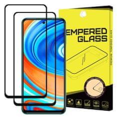 MG Full Glue Super Tough 2x zaščitno steklo za Xiaomi Redmi Note 9 Pro / Redmi Note 9S, črna
