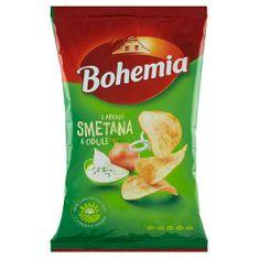 Bohemia Chips s příchutí smetana a cibule 140g