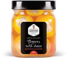 Gurmano Žluté papričky plněné sýrem HOT palivé, 290g