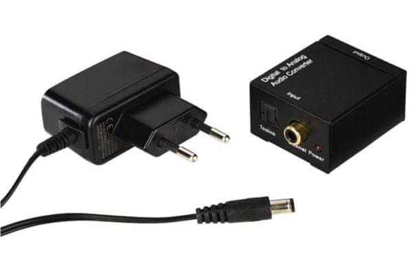 Nowoczesny przetwornik cyfrowy - wyjście analogowe, wyjście liniowe, 2 wejścia cyfrowe i koncentryczny adapter sieciowy w pakiecie, łatwe podłączenie Plug and Play