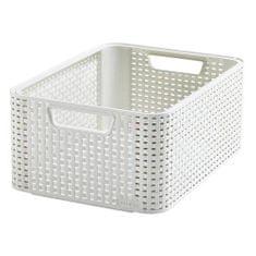 Strend Pro Košík Curver® STYLE2 M, krémový, 38x29x17 cm