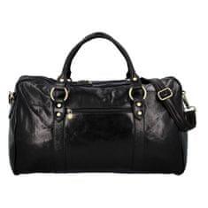 Delami Vera Pelle Velká kožená cestovní taška Čestmír, černá