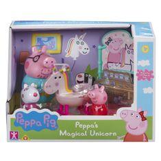 Peppa Pig Prasátko Pig sada Jednorožec - 3 figurky a doplňky