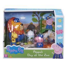 Peppa Pig Prasátko Peppa sada ZOO - 3 figurky a doplňky