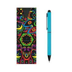 Pierre Cardin CELEBRATION Kovové kuličkové pero se stylusem modrá světle