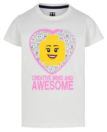 LEGO Wear Lány póló LW-12010002, 98, fehér