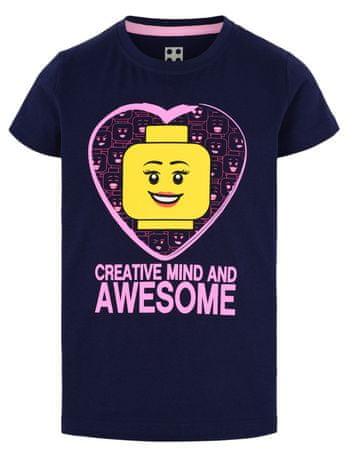 LEGO Wear LW-12010002 majica za djevojčice, tamno plava, 134