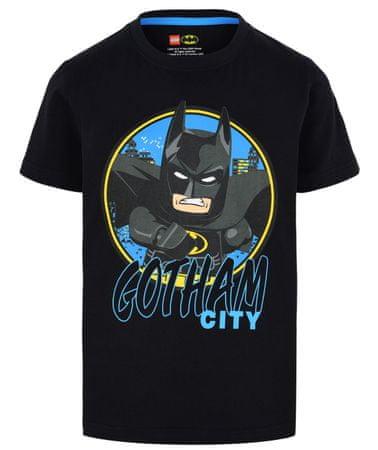 LEGO Wear Fiú póló Batman LW-12010023, 122, fekete