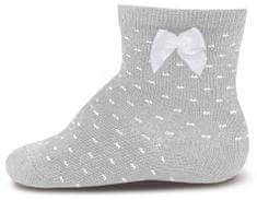 EWERS 20530_2 čarape za djevojčice s mašnom i točkicama