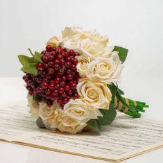JULEST Kytička z růží s bobulemi NINA mix