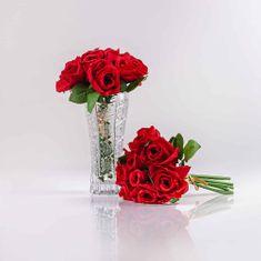 JULEST Hedvábná umělá kytička z růží TEREZIE červená