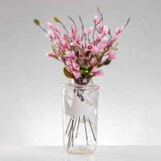 JULEST Umělá magnólie LENKA růžová. Cena uvedena za 1 kus.