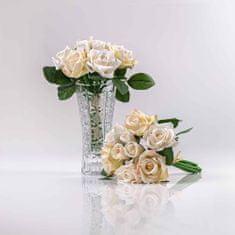 JULEST Hedvábná umělá kytička z růží TEREZIE šampaňsko-růžová.