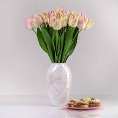 JULEST Umělý exkluzivní tulipán ELA světle-růžový. Cena uvedena za 1 kus.
