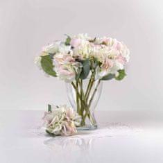 JULEST Umělá hortenzie ZUZANA bílo-růžová. Cena uvedena za 1 kus.