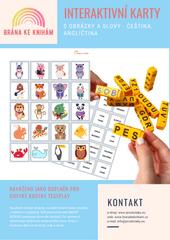 Brána ke knihám Interaktivní karty - čeština, angličtina - 120 ks