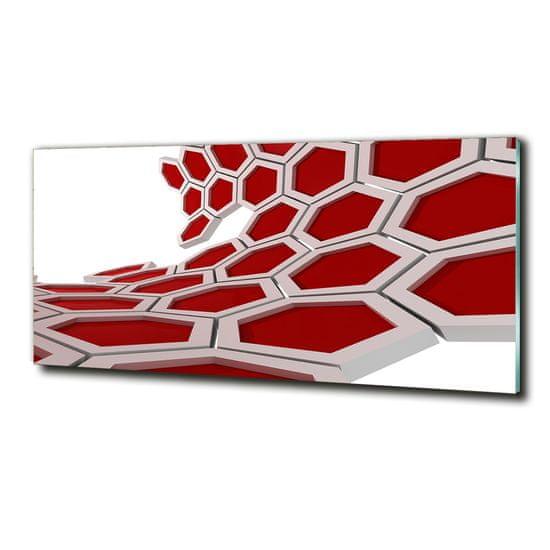 WALLMURALIA Foto obraz sklenený horizontálne Abstrakcie 3D 125x50 cm
