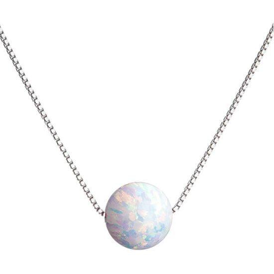 Evolution Group Trblietavý náhrdelník so syntetickým opálom 12044.1 striebro 925/1000