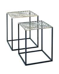 Mørtens Furniture Odkladací stolík Evelina (SADA 2 ks), 50 cm, čierna