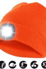 Velamp čiapka CAP10 s LED svetlom oranžová