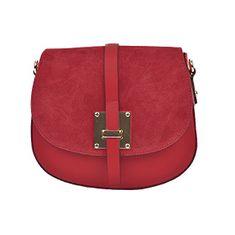 Sofia Cardoni Dámska kožená kabelka AW20SC3115 Rosso