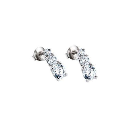 Lotus Silver Ezüst fülbevaló csillogó cirkónium kövekkel LP1289-4/1