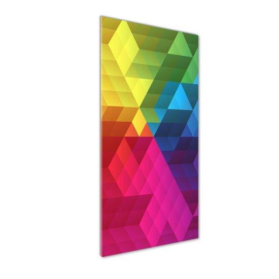 WALLMURALIA Foto-obraz skleněný svislý Geometrické pozadie 50x125 cm