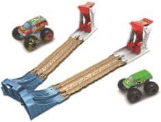 Hot Wheels Monster trucks Dvojitá deštrukcia Herný set
