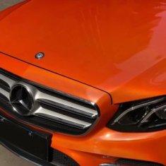 CWFoo Chromovaná laserová oranžová wrap auto fólia na karosériu