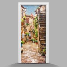 WALLMURALIA Nálepka fototapeta na dvere Ulička Verona 75x205