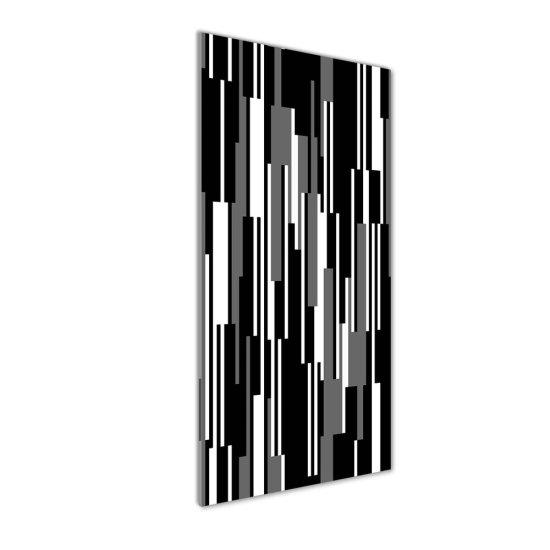 WALLMURALIA Foto obraz akrylový Čierno-biele línie 50x125 cm