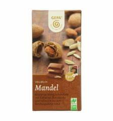 Gepa Bio mléčná čokoláda s celými mandlemi 100 g