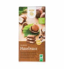 Gepa Bio mléčná čokoláda s lískovými oříšky 100 g