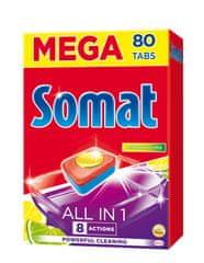Somat All in One Lemon&Lime 80 Tablet