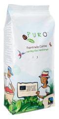 Puro káva Zrnková káva Fairtrade Bio Dark Roast 100% Arabica 1Kg