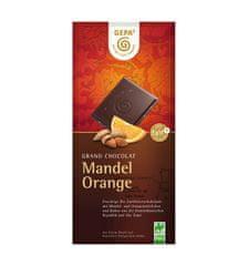Gepa Bio hořká čokoláda s pomerančem a kousky mandlí 100 g