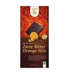 Gepa Bio hořká čokoláda 70% s pomerančovým olejem 100 g
