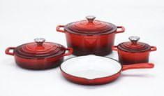 CS Solingen Sada nádobí litinová Xanten 7 ks červená