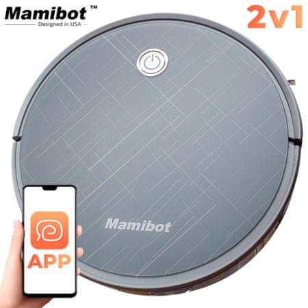 Mamibot Exvac660, robotski usisavač, Hibridni 2-u-1 (usisavanje i pranje), aplikacija, automatsko punjenje