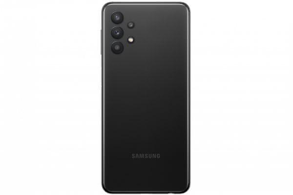moderný mobilný dotykový telefón smartphone samsung galaxy a32 5 g dolby digital dolby digital plus dolby atmos bočná čítačka odtlačkov prsta 15w rýchlonabíjanie krásny elegantný dizajn 5000 mah batéria slot pre microSD karty až 1 tb osemjadrový procesor 48 mpx 8 mpx 5 mpx 2 mpx zadný fotoaparát 13 mpx predný fotoaparát gorila glass 5 ochrana skla dolby atmos zvuk hd+tft infinity-v displej