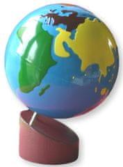 Montessori Glóbus - farebné kontinenty
