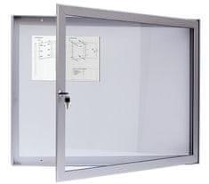 METALUMINA Jednokřídlá venkovní vitrína magnetická 70x90x4 cm
