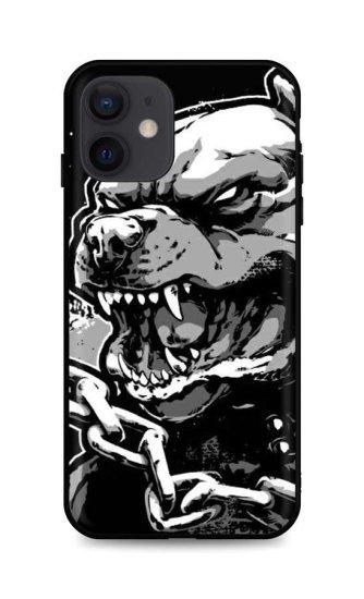 TopQ Kryt iPhone 12 silikón Agressive Pitbull 55097