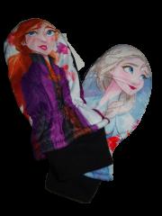 Disney Frozen Dívčí palcové růžové rukavice s Elsou a Annou z filmu Frozen.