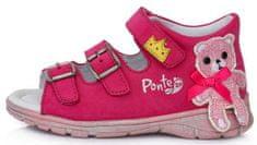 Ponte 20 kožne sandale za djevojčice PS121-DA05-1-875