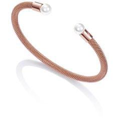 Viceroy Bronzový otevřený náramek s perlami Chic 75047P01017