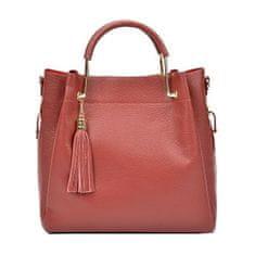 Carla Ferreri Dámská kožená kabelka AW20CF1277 Rosso